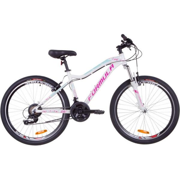 Купить Велосипеды, Formula 26 MYSTIQUE 2.0 рама 16 бело-голубой с фиолетовым (OPS-FR-26-320) 2019