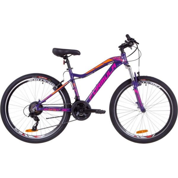 Купить Велосипеды, Formula 26 MYSTIQUE 2.0 рама 13, 5 фиолетово-оранжевый (OPS-FR-26-319) 2019