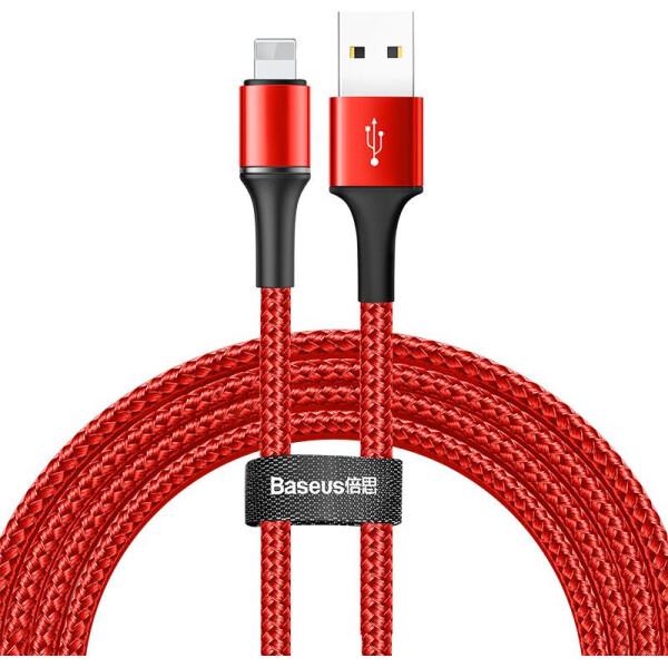 Купить Кабели и переходники, Baseus Halo USB Lightning 2м Red