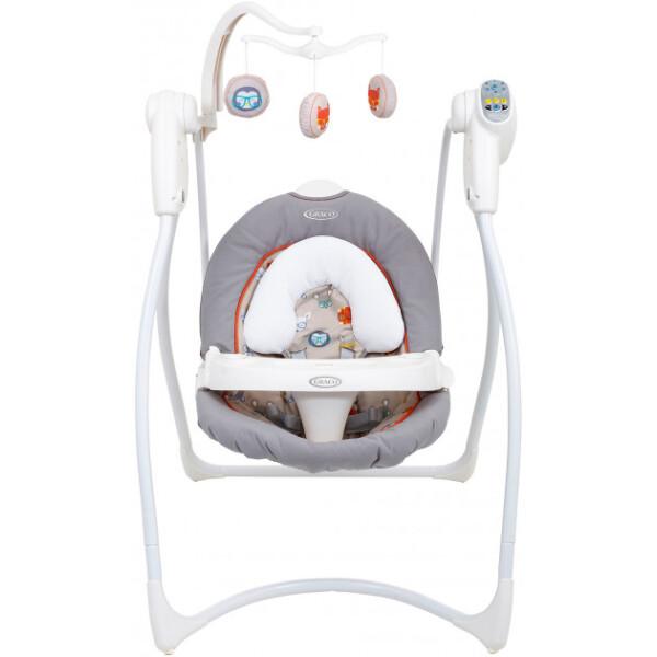 Купить со скидкой Кресло-качалка Graco Lovinhug Adorable (Серая) (1L999ADBEU)