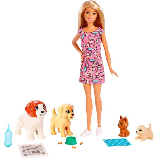 Купить Куклы, наборы для кукол, Mattel Barbie Набор кукла Барби блондинка Щенячий детский сад (FXH08)