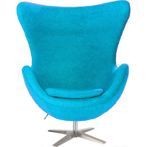 Купить Кресла, SDM Эгг (Egg) с наклонной спинкой поворотное ткань Голубой