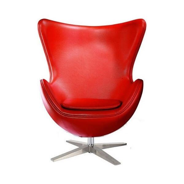 Купить Кресла, SDM Эгг (Egg) с наклонной спинкой поворотное кожзам Красное