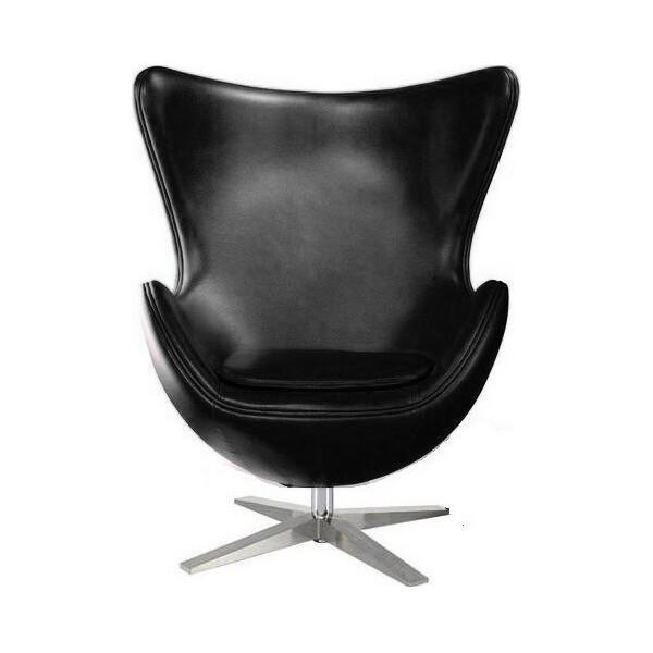 Купить Кресла, SDM Эгг (Egg) с наклонной спинкой поворотное кожзам Черное