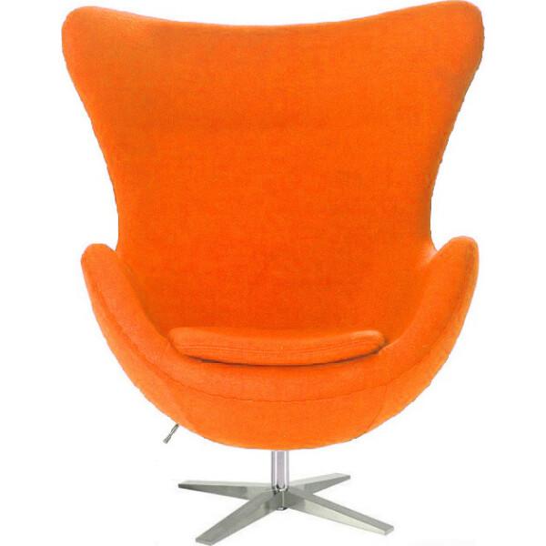 Купить Кресла, SDM Эгг (Egg) с наклонной спинкой поворотное ткань Оранжевый