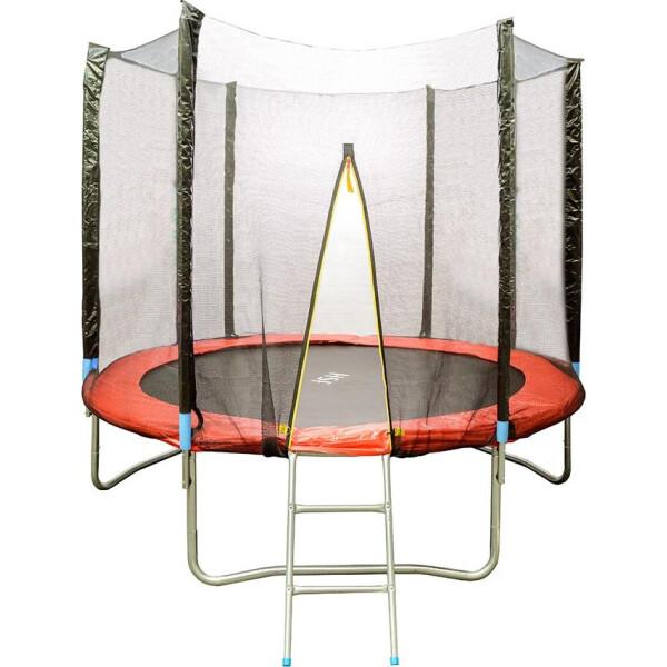 Батуты, HouseFit HSF 8FT d=2, 5м с сеткой и лестницей  - купить со скидкой