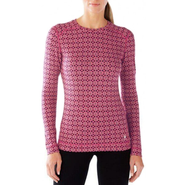 Купить Термобелье, Термокофта Smartwool Wm's Merino 250 Baselayer Pattern Crew (Potion Pink, XL) (SW SS226.906-XL)