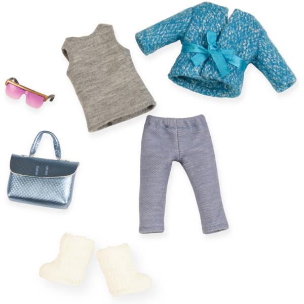 Купить Куклы, наборы для кукол, Набор одежды для кукол LORI голубое пальто (LO30005Z)