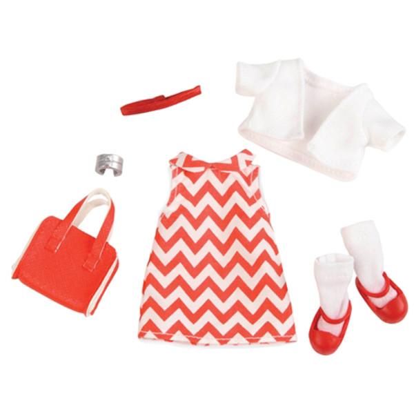 Купить Куклы, наборы для кукол, Набор одежды для кукол LORI Платье с принтом (LO30009Z)