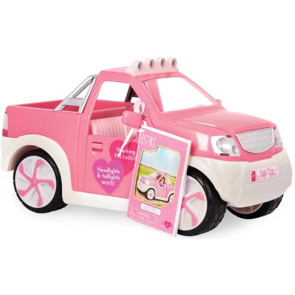 Купить Куклы, наборы для кукол, Транспорт для кукол LORI Джип розовый с FM радио (LO37033Z)