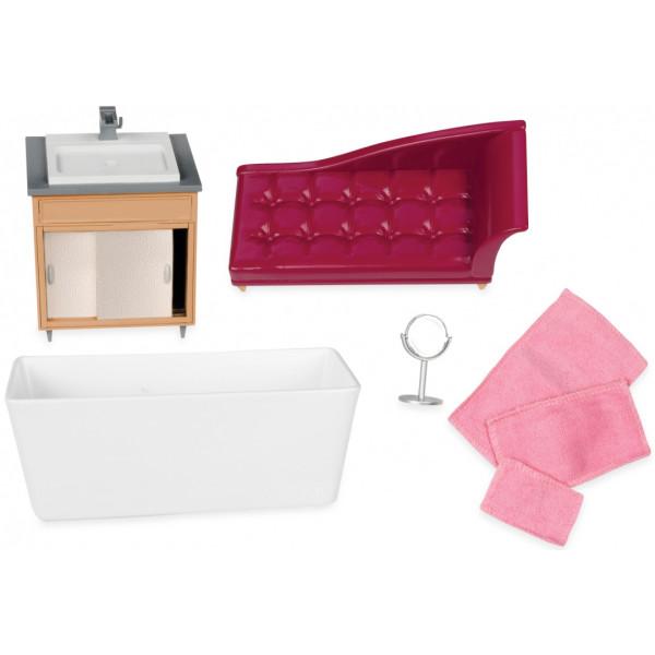 Купить Куклы, наборы для кукол, Набор для кукол LORI Мебель для ванной (LO37029Z)