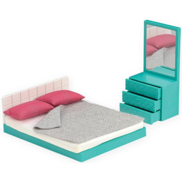 Купить Куклы, наборы для кукол, Набор для кукол LORI Мебель для спальни (LO37013Z)
