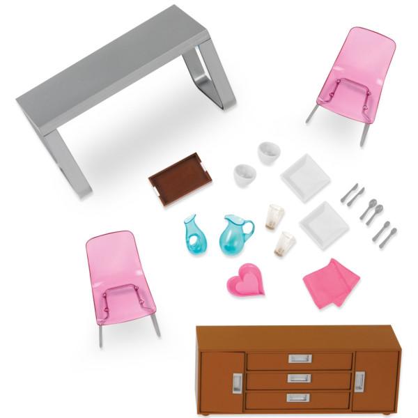 Купить Куклы, наборы для кукол, Набор для кукол LORI Мебель для столовой (LO37030Z)