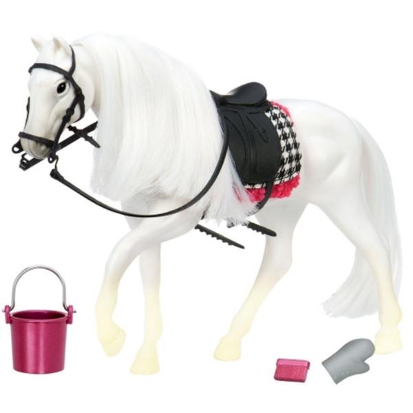 Купить Куклы, наборы для кукол, Игровая фигура LORI Белая лошадь с Камарилло (LO38000Z)