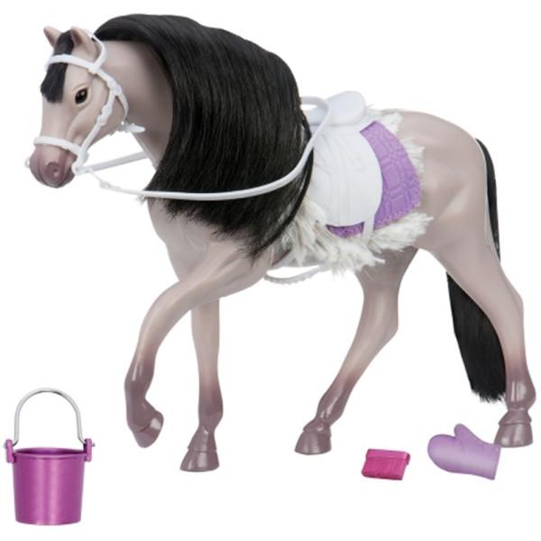 Купить Куклы, наборы для кукол, Игровая фигура LORI Серая Андалузкая лошадь (LO38001Z)