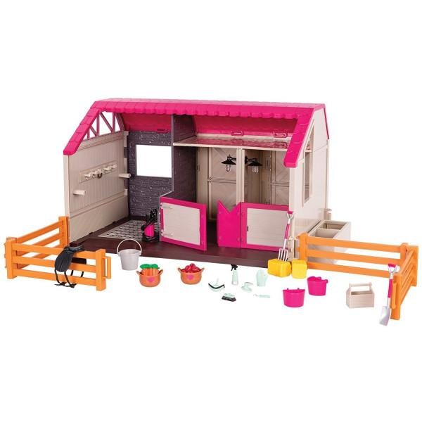 Купить Куклы, наборы для кукол, Игровой набор LORI Конюшня (LO37053Z)