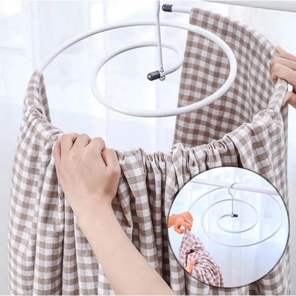 chrishuang Сушилка Chrishuang Спиральная вешалка многофункциональная спиральная для белья Белая
