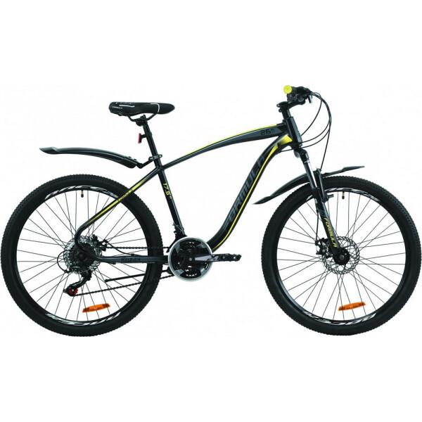 Купить Велосипеды, 26 Formula KOZAK DD 17, 5 черно-серый с желтым (м) 2020