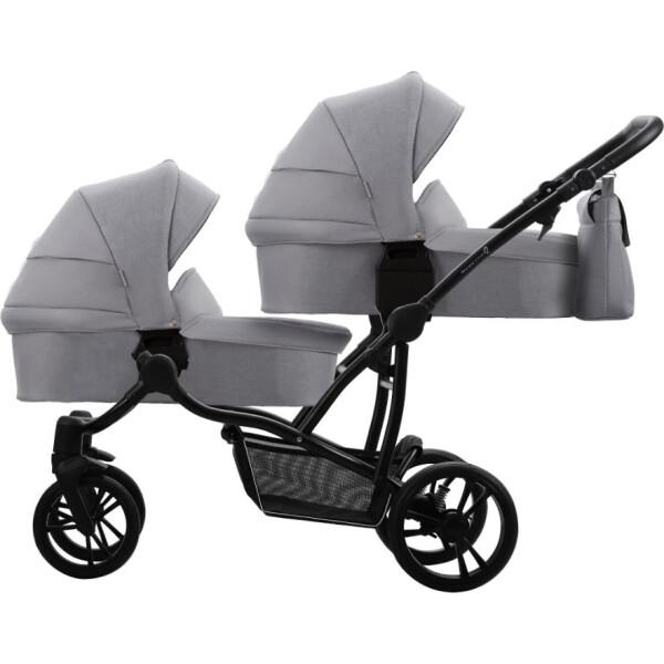 Купить Коляски, универсальная 2в1 для двойни Bebetto B 42 Simply (01) Светло-серый (505.36.19.001)