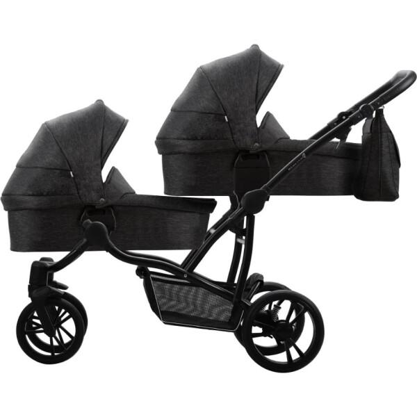Купить Коляски, универсальная 2в1 для двойни Bebetto B 42 Simply (04) Черный (505.36.19.004)