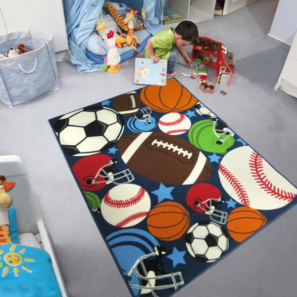 Купить Развивающие коврики, Коврик для детской комнаты Berni Мячи 100 х 130 см Синий (45985)