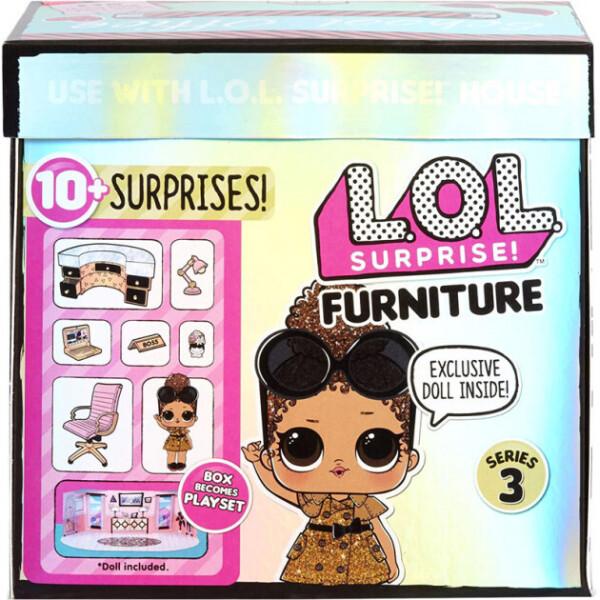 Купить Куклы, наборы для кукол, Игровой набор с куклой L.O.L. SURPRISE! серии Furniture S2 - КАБИНЕТ ЛЕДИ-БОСС (570042)