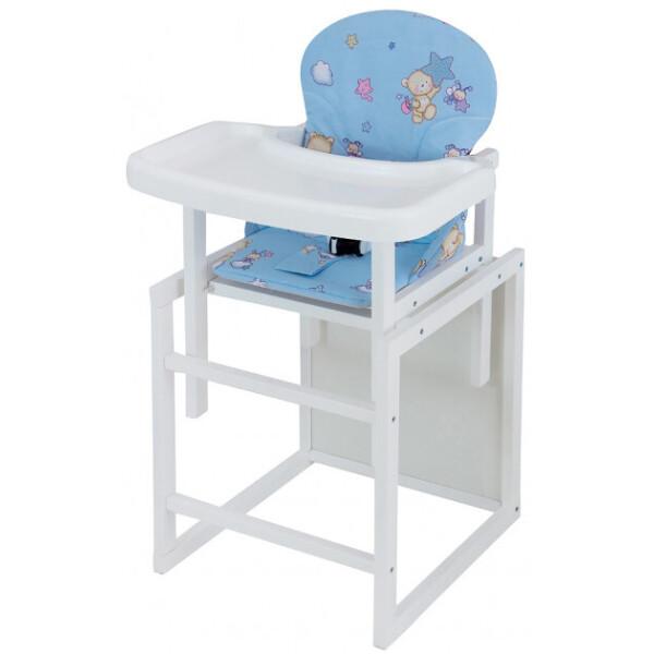 Купить Стульчики для кормления, Стульчик- трансформер Babyroom Пони-240 белый пластиковая столешница зеленый (мишки и пчелки)