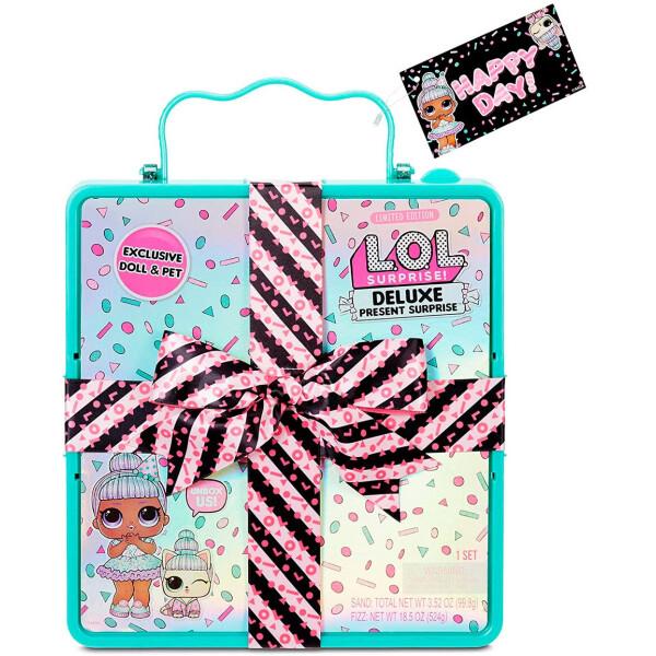 Купить Куклы, наборы для кукол, Игровой набор с куклой L.O.L. SURPRISE! серии Present Surprise - Суперподарок бирюзовый (570707), L.O.L SURPRISE