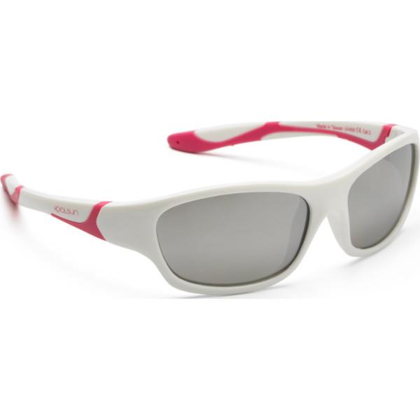 Детские солнцезащитные очки Koolsun Sport бело-розовые (Размер 3+) (KS- 9dcbcd93240ba