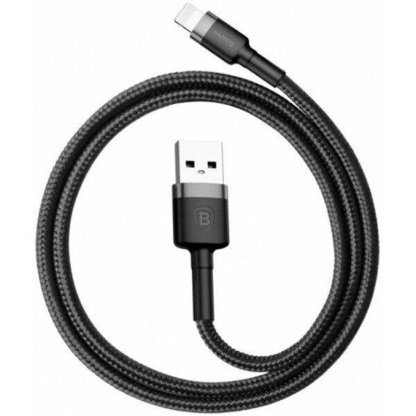 Купить Кабели и переходники, Baseus Kevlar для iPhone/iPad/iPod Lightning 1.5A 2M Gray+Black
