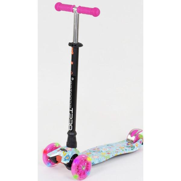 Купить Самокаты, Самокат Scooter Maxi S779 Цветочки голубые, Best Scooter