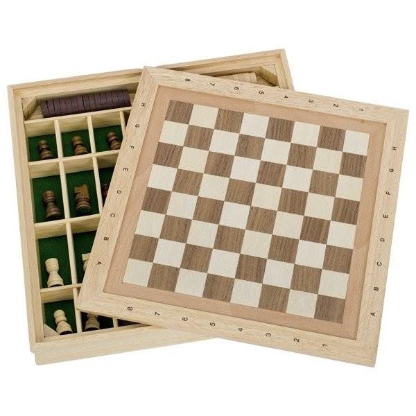 Купить со скидкой Настольная игра goki Шахматы и шашки + 9 игр. (56953G)