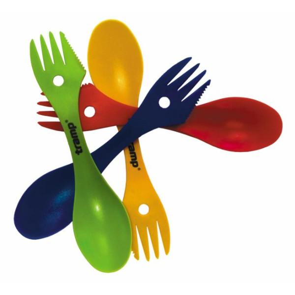 Купить Туристическая посуда, Ложка-вилка Tramp TRC-069 пластмассовая