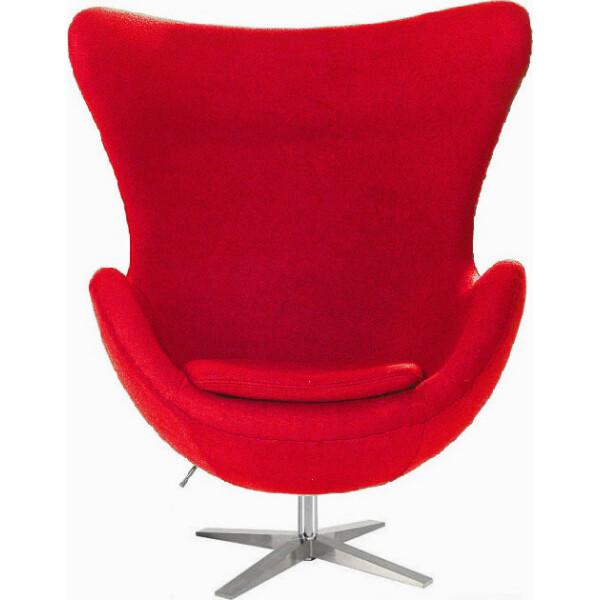 Купить Кресла, SDM Эгг (Egg) с наклонной спинкой поворотное ткань Красный