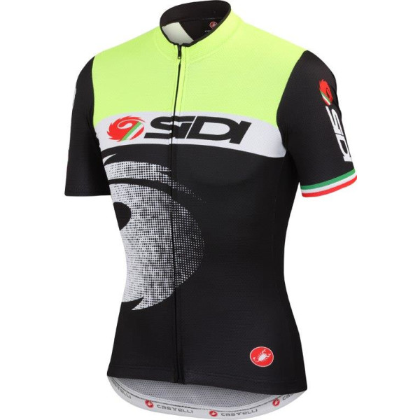 Купить Велоодежда, Велофутболка мужская Sidi Pippo 2 Jersey No.2140 Black/Yellow Fluo XXL