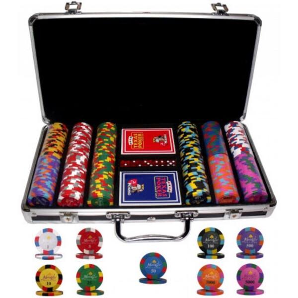 Купить Настольные игры, Профессиональный набор для игры в покер Goods4u Monte Carlo Millions 300 номинальных фишек в кейсе