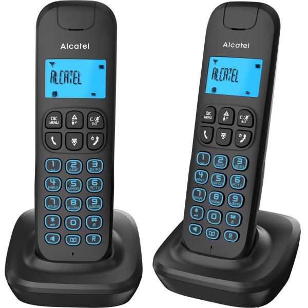 Купить Радиотелефоны, Радиотелефон Alcatel E192 Duo Black с дополнительной трубкой (ATL1418972)