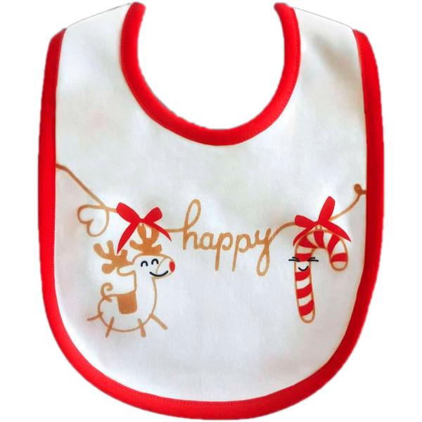 Купить Посуда для детей, Слюнявчик двусторонний Chicco Christmas (55620.00)