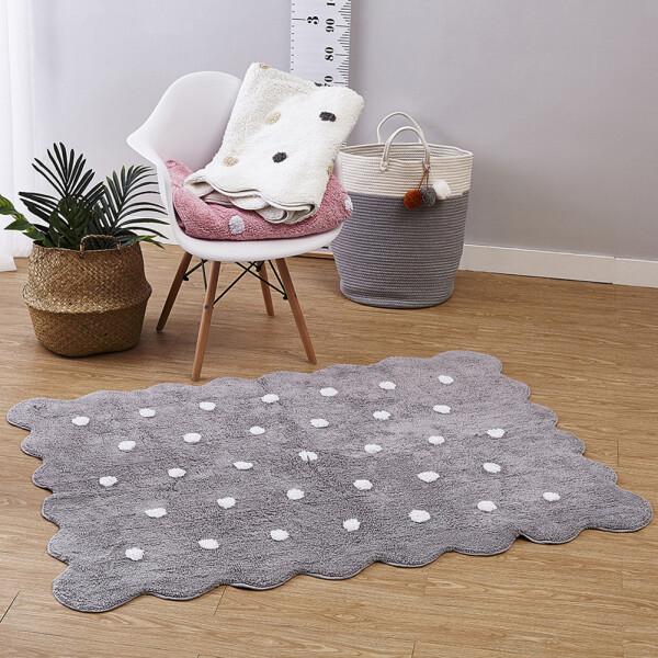 Купить Развивающие коврики, Коврик для детской комнаты Berni Серое печенье 150 х 110 см Серый (49362)