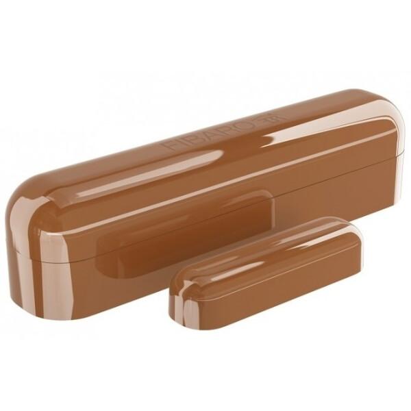 Купить Датчики для дома, Умный датчик открытия двери / окна Fibaro Door / Window Sensor 2, Z-Wave, 3V ER14250, коричневый