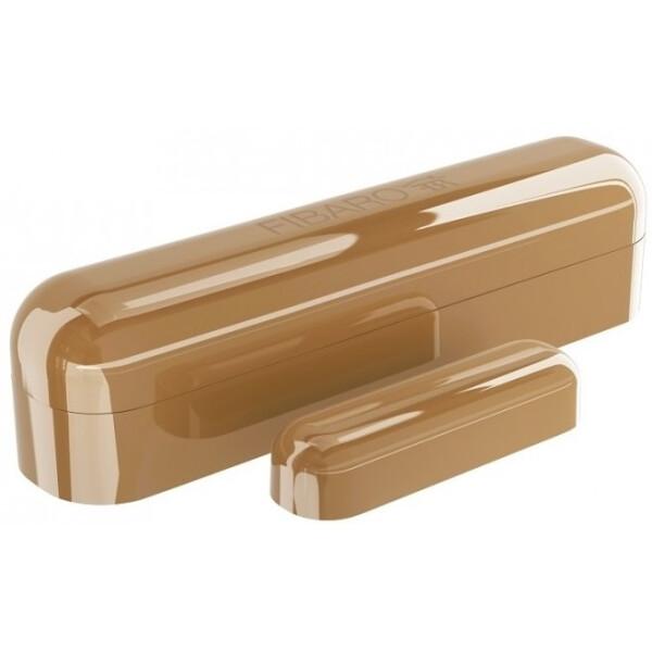 Купить Датчики для дома, Умный датчик открытия двери / окна Fibaro Door / Window Sensor 2, Z-Wave, 3V ER14250, светло-коричневый