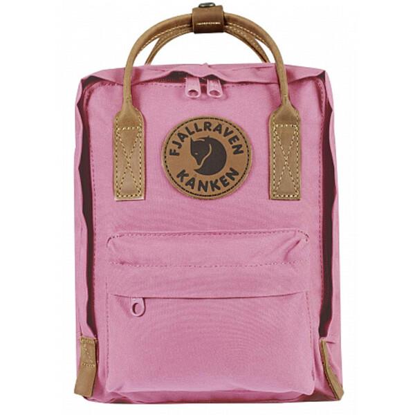 Купить Рюкзаки, городской с кожаными ручками Fjallraven Kanken No.2 Mini (7 л) Розовый (171134-0205)