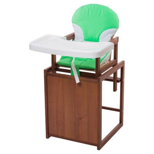 Купить Стульчики для кормления, Стульчик- трансформер Наталка темный пластиковая столешница зеленый