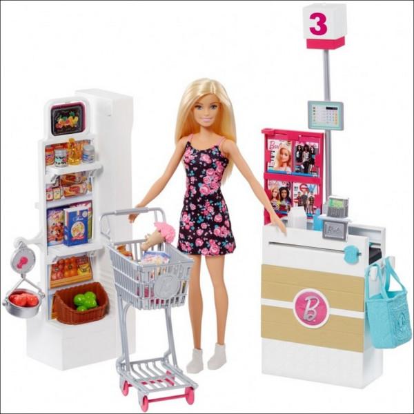 Купить Куклы, наборы для кукол, Mattel Barbie Набор кукла Барби в Супермаркете (RP01)