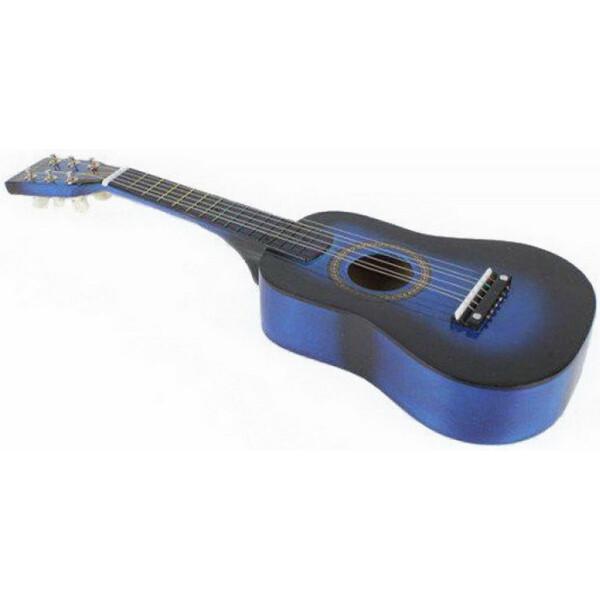 Купить Детские музыкальные инструменты, Гитара M 1370 Деревянная (Синий), Metr Plus