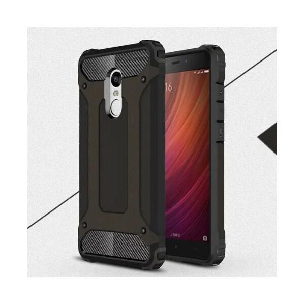 Бронированный противоударный TPU+PC чехол Immortal для Xiaomi Redmi Note 4 (Snapdragon) (Черный) (106932)