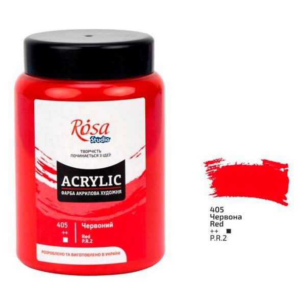Купить Наборы для творчества и рукоделия, Краска акриловая ROSA Studio Красная 400 мл (322419405)