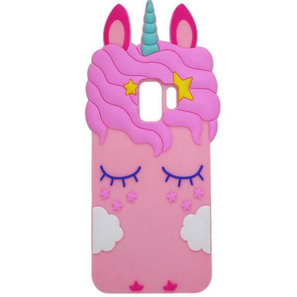 Силиконовая накладка 3D Little Unicorn для Samsung Galaxy S9 (Розовый, Единорог) (685112)