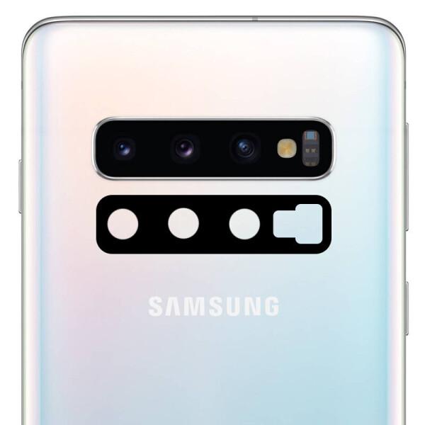 Гибкое ультратонкое стекло Epic на камеру для Samsung Galaxy S10+ (Черный) (708237)