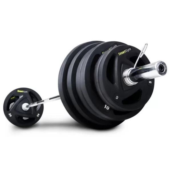 Купить Штанги, Штанга обрезиненная SmartGym 115 кг с грифом 220 см - 50 мм 05315, Hop-Sport